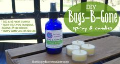 Ban the Bugs With Essential Oils - DIY Bugs-B-Gone Candles & Spray