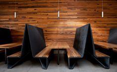 restaurant furniture Modern restaurant Bar Agricole by Aidlin Darling in San Francisco, California Restaurant Booth, Restaurant Seating, Restaurant Concept, Restaurant Furniture, Public Restaurant, Modern Restaurant Design, Industrial Restaurant, Restaurant Equipment, Restaurant Ideas