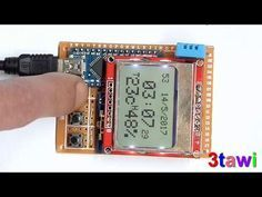 Clock Temperature and Humidity Displayed on lcd 5110 In this Arduino Tutorial we will learn how the DHT11 Sensor works and how to use i...