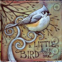 Little Bird | ©2011 Vickie Hallmark | art journal mixed media