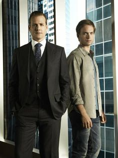 "Suits, on the USA Network - photo of Gabriel Macht and Patrick J. Adams in ""Suits"""