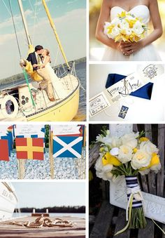 Nautical Wedding Ideas | Found on bridalbar.squarespace.com