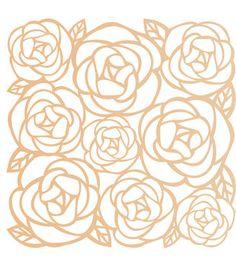 Wood Veneer Embellishments - Flowers