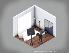 Isometric Photo Studio Room by SaFi-ZuKe321