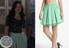 Aria Montgomery (Lucy Hale) wears this green tutu in this week's episode of Pretty Little Liars. It is the Remain Crinoline Pleated Skirt and is sold out.