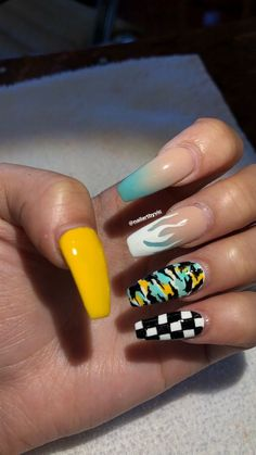 Cute Acrylic Nails 629167010424585643 - Ombré/checkered/flames/camo Nails, Acrylic Nails, Source by shelyneoci Simple Acrylic Nails, Summer Acrylic Nails, Best Acrylic Nails, Acrylic Nail Art, Summer Nails, Camo Nails, Aycrlic Nails, Swag Nails, Camo Nail Art