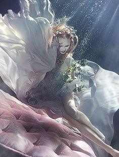 Underwater fashion editorial photography