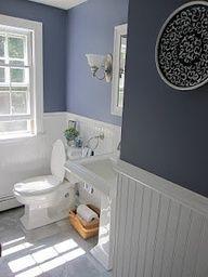 Navy Blue And White Bathroom Home Bathroom Pinterest