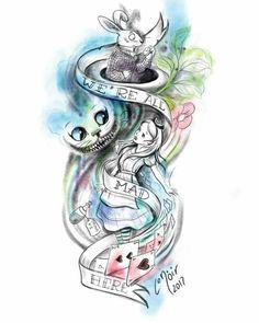 Tattoo Ideas Disney Alice In Wonderland Super Ideas Cat tattoo – Top Fashion Tattoos Disney Tattoos, Arte Disney, Disney Art, Disney Ideas, Tattoo Design Drawings, Tattoo Designs, Tattoo Ideas, Tatto Alice, Body Art Tattoos