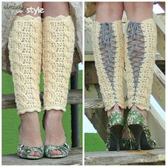 Sexy Legwarmers -  Fall fashion is where its at this season! Get stylish with these awesome leg warmers. The cable stitch really makes them beautiful, so grab your hook and start crocheting.