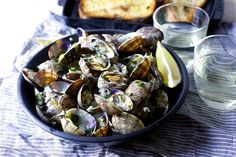 Steamed Clams with Wine, Garlic and Buutter Courtesy of Smitten Kitchen