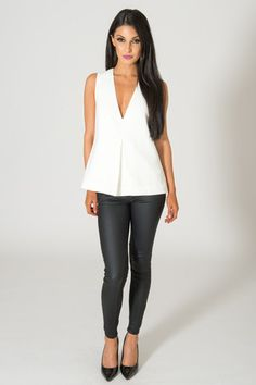 KEEPSAKE STEAL THE LIGHT IVORY TOP available on shopfashtique.com