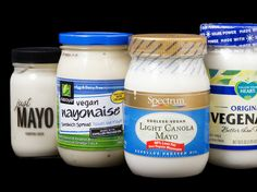 We tasted four nationally available egg-free vegan mayonnaise products, alongside one conventional brand, to see how they'd stack up. The results took us completely by surprise. Mayonnaise Recipe, Vegetarian Vs Vegan, Vegan Foods, Dairy Free Eggs, Egg Free, Vegan Mayonaise, Vegan Mozzarella, Food Lab, Products