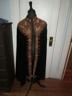 Magnificent Stevie Nicks Stage Worn Velvet Cape with Gold Sequin Embroided Cape | eBay