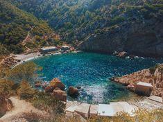 Es Portitxol is a small hidden beach in the north of Ibiza