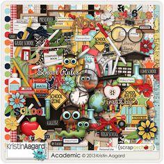 Digital Scrapbook Kit - Academic | Kristin Aagard Designs | Regular Price: $6.88 | #kaagard