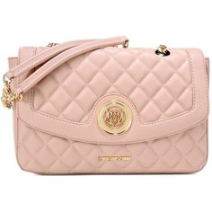 Love Moschino Medium Fabric Bag (3.155 ARS) ❤ liked on Polyvore featuring bags, handbags, pink, logo bags, quilted purse, quilted handbags, love moschino bags and pink quilted handbag