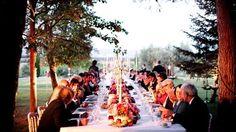 Wedding in Tuscany - Dinner under the sunset glow and candlelight. #fotografomatrimonio #morlottistudio #weddingphotographer #weddingtuscany