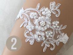 Lace Garter, Garter Set, White Bridal, Bridal Lace, Barefoot Sandals Wedding, Garter Wedding, Bare Foot Sandals, Bridal Gifts, White Lace