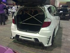 Frame support for a modified GE8 Honda Fit.
