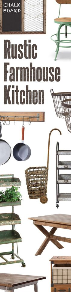 Rustic Kitchen Décor | Shop Now at dotandbo.com
