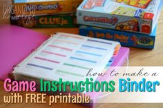 How to Make a Game Instructions Binder with FREE Printable