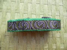 Funky dots and swirls dog collar and leash set