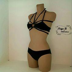 Bikini tutto in uno reversibile ed intercambiabile, spedito da Italia in pacco regalo, fatto a mano, in lycra, taglie dalla XS alla L. di NegoBmilano su Etsy