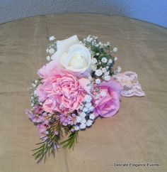 Delicate Elegance Events:  Pink Vintage Wedding - Corsage
