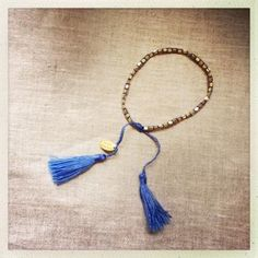 Our jewellery pieces are simple, fun, feminine and above all wearable. Designs rest comfortably between costume and fine jewellery - casual, yet smart and timeless. Jewelry Shop, Fine Jewelry, Jewellery, Tassel Necklace, Feminine, Amp, Bracelets, Gold, Blue