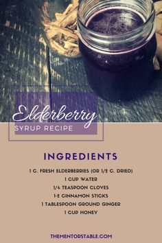 Easy Elderberry Syrup Recipe: Most ingredients I already have at home. And this is way cheaper than buying it at a health foods store.