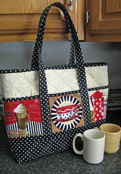 Really like this bag - the use of the panels on the side is novel & we have several panels that would work GREAT!