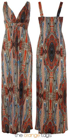 LADIES LONG PAISLEY PRINT CASUAL GRECIAN MAXI WOMENS SUMMER DRESS 8-16 in Clothes, Shoes & Accessories, Women's Clothing, Dresses | eBay