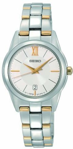 Seiko Women's SXDC81 Two Tone Stainless Steel Analog with Silver Dial Watch Seiko. $129.00. Quartz movement. Case diameter: 27 mm. Water-resistant to 50 M (165 feet). Stainless steel case. Scratch resistant hardlex