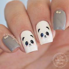 Nailpolis Museum of Nail Art | Cute Panda Nails by xNailsByMiri