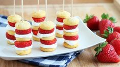 Strawberry Shortcake Kabobs are an easy twist on a summer classic dessert. Perfect for picnics and barbecues.