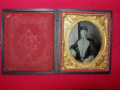 Confederate Soldier in His Southern Militia Uniform 6th Plate Ambrotype | eBay