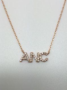 Multiple petit diamond initials necklace muse refined jewelry customized petit diamond initial necklaces aloadofball Images