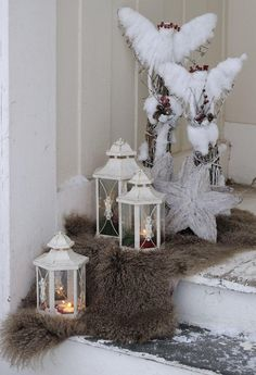 ~ Xmas angels in my house ~ Christmas Entryway, Christmas Room, Merry Christmas To All, Cozy Christmas, All Things Christmas, White Christmas, Christmas Wreaths, Christmas Decorations, Holiday Decor