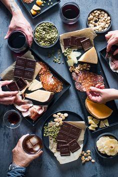 Ultimate Cheese & Charcuterie Platter Pairing with Ghirardelli Dark Chocolate | /whiteonrice/