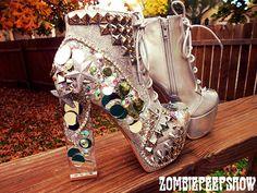 ZombiePeepshow shoes seen on Offbeat Bride