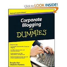 """Corporate blogs require careful planning and attention to legal and corporate policies in order for them to be productive and effective. This fun, friendly, and practical guide walks you through using blogging as a first line of communication to customers and explains how to protect your company and employees through privacy, disclosure, and moderation policies."" $18.99 {affiliate}"
