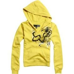 Fox Racing Womens Opulence Pullover Hoody - X-Large/Lemonade Fox Racing Baby, Cute Comfy Outfits, Cool Outfits, Fox Motocross, Fox Racing Clothing, Fox Sweater, Fox Girl, Kinds Of Clothes, Hot Clothes