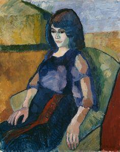 "terminusantequem: ""Axel Revold (Norwegian, Italienerinne [Italian Woman], Oil on canvas, 92 x cm "" Pale Face, Color Scale, Italian Women, Art Station, Paul Cezanne, Henri Matisse, Traditional Art, Art History, Oil On Canvas"