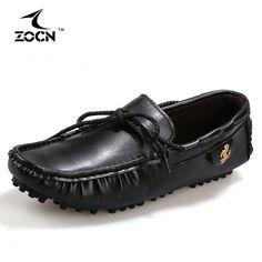 Cheap Venta caliente Pisos Barco Zapatos de Los Hombres de Los Holgazanes Zapatos Planos de Los Hombres de Cuero Artificial Negro Hombres Mocasines Zapatos de Conducción 2016 Chaussure Homme, Compro Calidad Pisos de los hombres directamente de los surtidores de China: