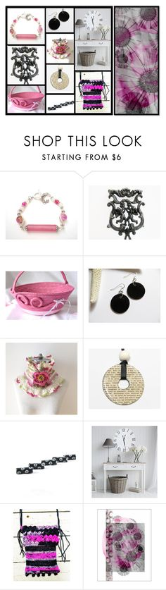 """Pink and Friends"" by fibernique ❤ liked on Polyvore featuring Wilton and Wild Rose"