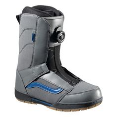 VANS EXTENT BOA SNOWBOARD BOOTS 2013 IN GREY BLUEThe Vans Extent snowboard boot is brand new in the Vans Snowboarding boot range. Previously this type of boot was called Ambush. This boot is created for the Entry level rider looking for a soft flexing boot that is easy to use and comfortable at the same time. #snowboard #snowboardboots #vansextentboasnowboardboots #colourgreyblue