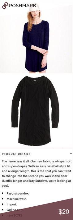J.Crew Whisper Jersey Nightshirt J.Crew's Whisper Jersey pajamas / sleepshirt / nightshirt in navy blue (darker than stock photo -- see my photo). Size M. Smoke and pet free home. Hope you enjoy! 😍 J. Crew Intimates & Sleepwear Pajamas