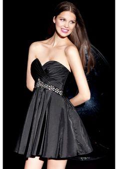 Taffeta A Line Homecoming Dress