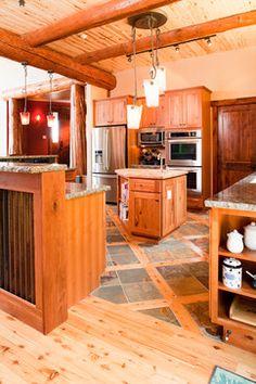 wood and slate floor